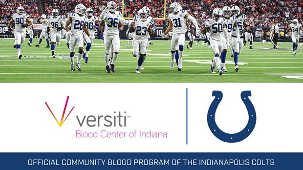 Official Community Blood Program of the Indianapolis Colts