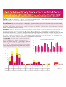 Blood Donor Educational Materials: A Pilot Study at Three Sites